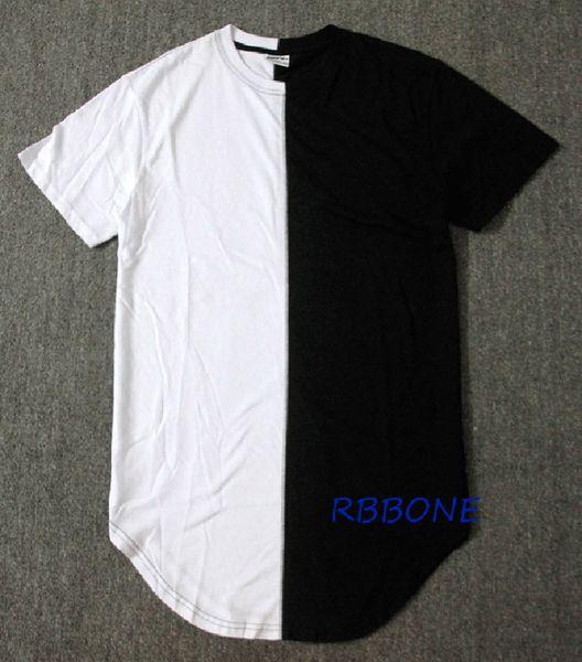 Оптовая половина черный белый новый дизайнер 2016 мужчины лето Dress Tee футболка хип-х