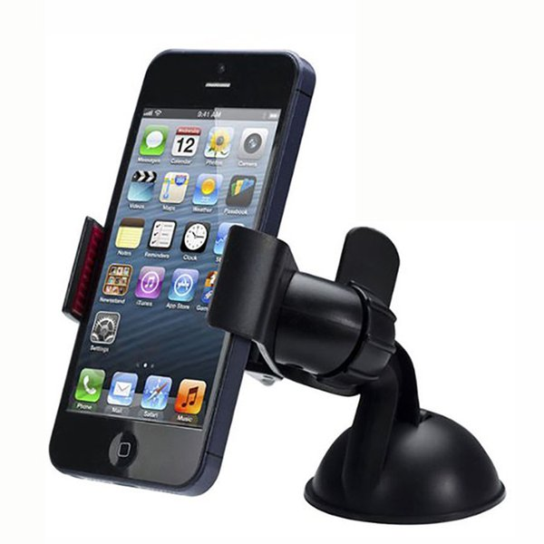 2017 Hot 50pcs Universal Cellphone Car Mount Holder Windshield Desktop Bracket Holders For Cell Phone Smartphone Samsung iPhone 2 Colors