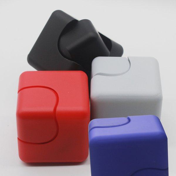 New Cube Gyro Whirlwind Square Cube Fingertip Cube Fidget Spinner EDC Decompression Toys Hand Spinner Matte and Gloss model Finger Spinner