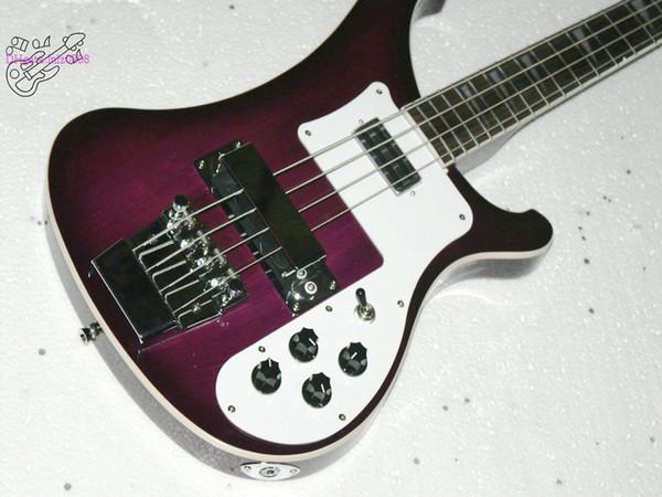 Высокое качество фиолетовый 4 строки 4003 электрический бас-гитара стерео, varitone бес