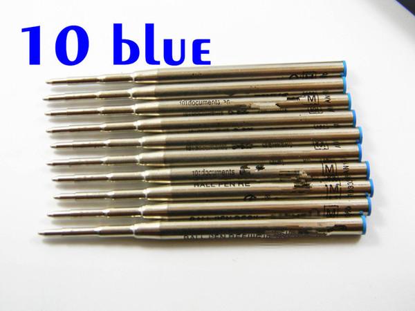 10pc blue ballpoint pen good quality ballpoint pen refill tationery