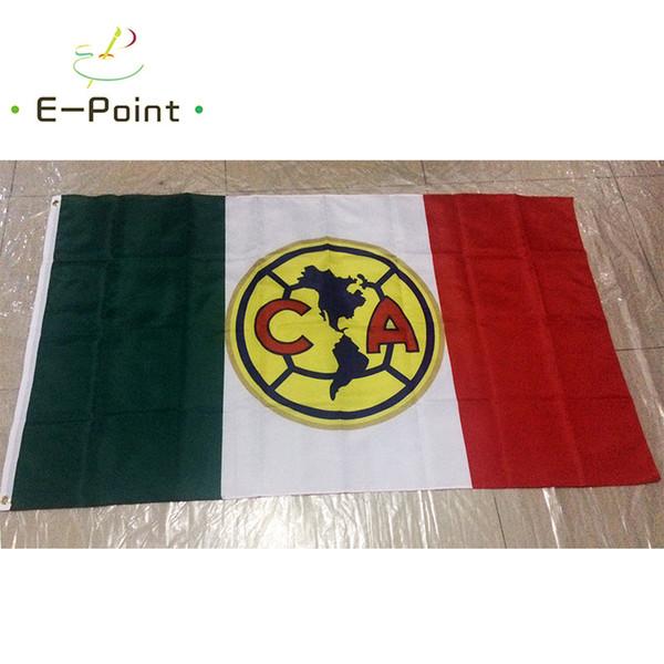 Мексика Лига Америка ФК тип B 3*5 футов (90 см*150 см) полиэстер флаг баннер украшения л фото