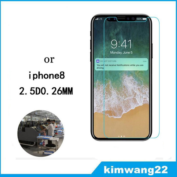 For iphone 8  creen protector tempered gla   for iphone8 cell phone protector 9h hardne    creen protector with retail package