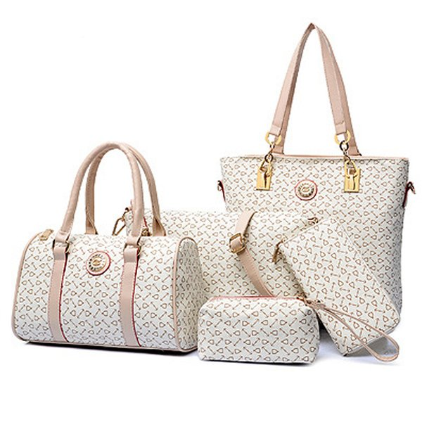 wholesale- wholesale 2016 women fashion high-grade leather shoulder bag handbags women messenger bags print purses 5 pieces/sets bolsas (399907392) photo