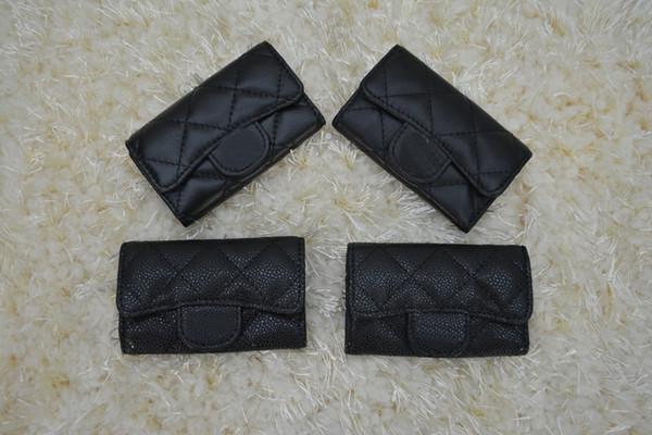 Fa hion long de igner clutch women pur e brand wallet lamb kin leather bifold credit card holder key bag with box du tbag 31503