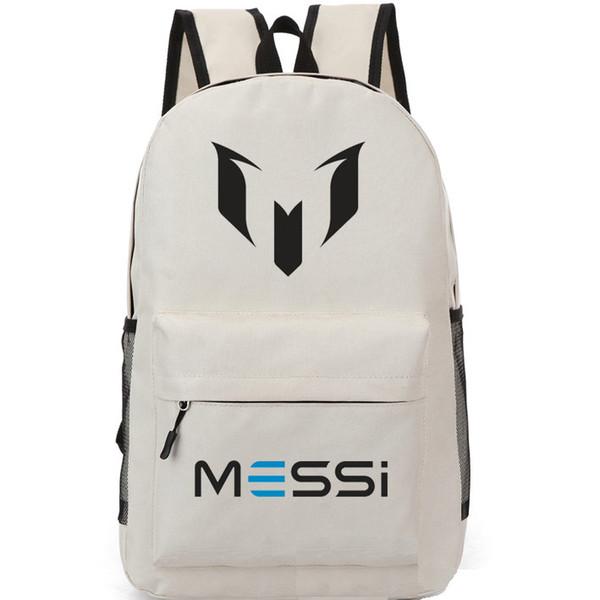Logo M backpack Lionel Messi school bag Soccer fans daypack Football schoolbag Outdoor rucksack Sport day pack
