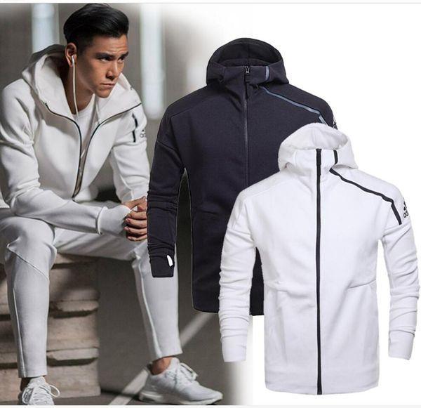 Бренд весна и осень мужская спортивная куртка с капюшоном куртка мужчины повседневная тонкий ветровка молния спортивная мода ZNE толстовка пальто
