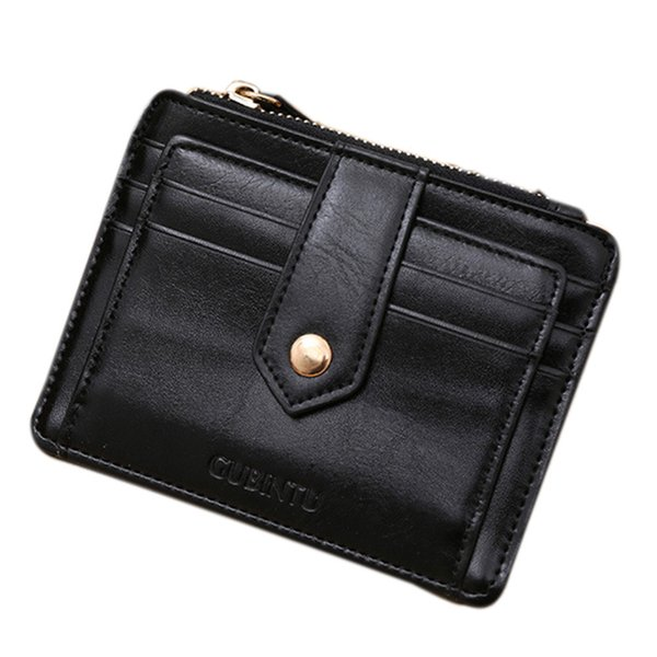 wholesale- mance  holder womens wallets and purses mini leather zipper  id holder wallet slim mini purse (403208634) photo