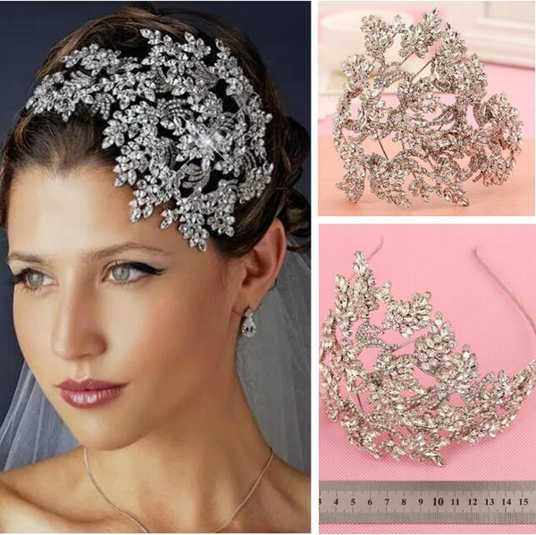 New wedding bridal cry tal rhine tone ilver queen headband tiara headpiece prince hair acce orie pageant prom retail jewelry party