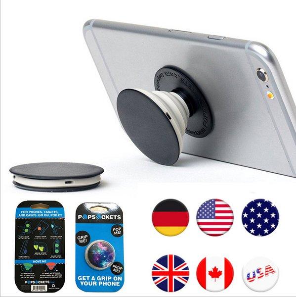 31 disegni PopSockets espansione stand e Grip per compresse stand supporto della staffa del telefono Pop Socket 3M Colla per iPhone 7 Note7 10pcs / pz