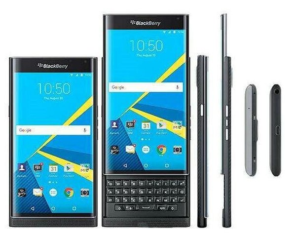 Refurbi hed original blackberry priv unlocked cell phone ram 3gb rom 32gb 5 4 inch 18mp 4g lte