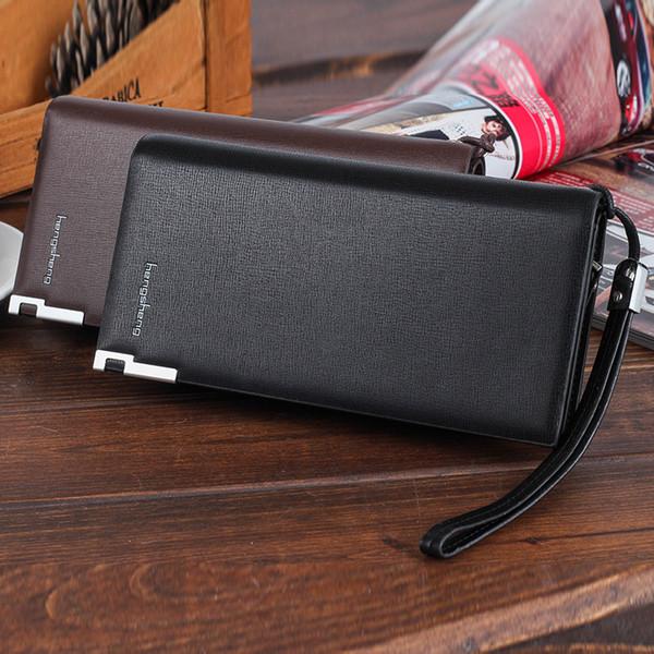 purse brand men wallets long men purse wallet male clutch genuine leather wallet men business male wallet coin purse (404709621) photo