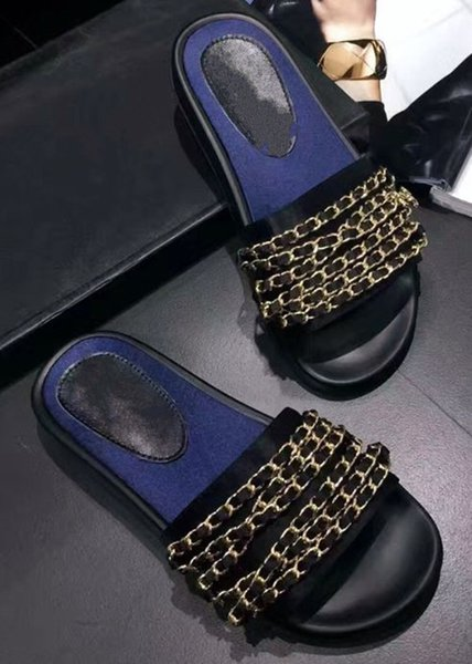 Горячие продажи новая мода женщины сандалии квартиры обувь цепи лето корова нату фото