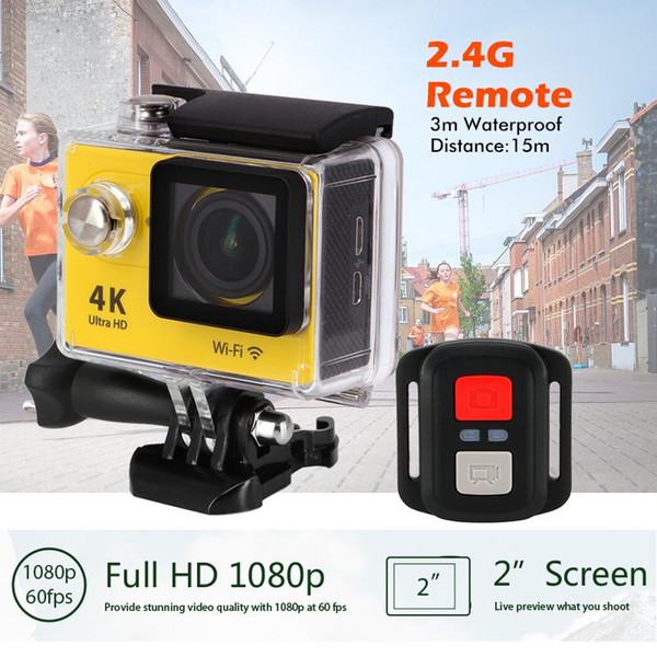 macchina fotografica di azione deportiva originale EKEN H9 / H9R remoto Ultra HD 4K WiFi 1080P 60fps 2.0 LCD 170D sportiva andare fotocamera pro impermeabile