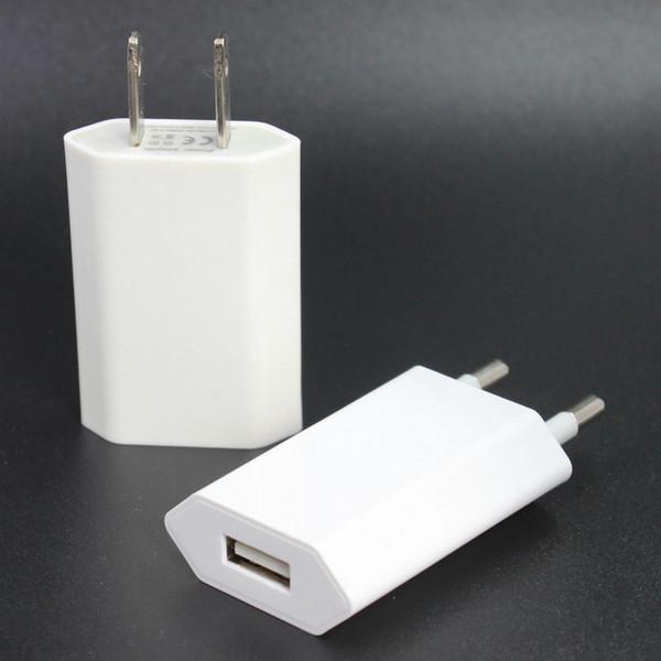 Зарядное устройство США ЕС Plug Real 5V / 1A высокое качество универсальный для iPhone моби