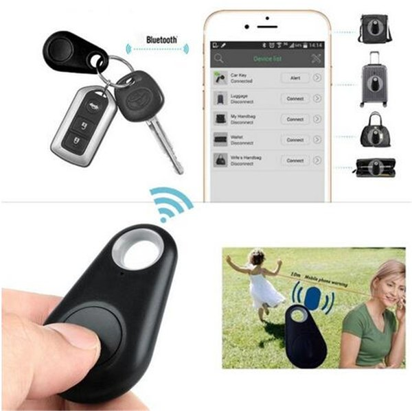Hot Wireless Bluetooth Tracker Bags Pet Kids GPS personal Locator Alarm Itag Smart Finder Anti Lost Reminder body alarms free shipping