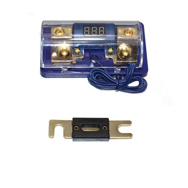 Car Stereo Audio Led Display Digital Voltage Blue Base Inline ANL Fuse Holder 0 2 4 Gauge 200 Amp 200