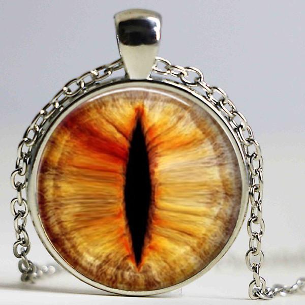 Подвески Cat Eye кулон ожерелья стекло dragon eye pendnat личность ожерелья бронзовая цепь с фото
