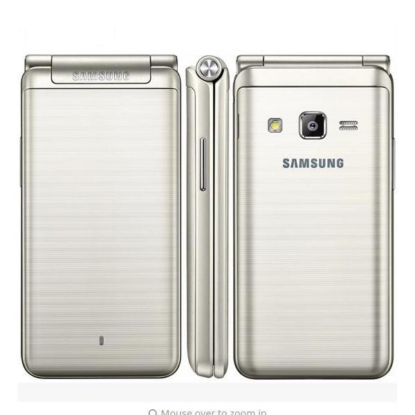 Original  am ung galaxy folder g1600  2016  dual  im lte cellphone quard core 480 x 800 1 4ghz 16gb rom 2gb ram 3 8 quot  inch phone