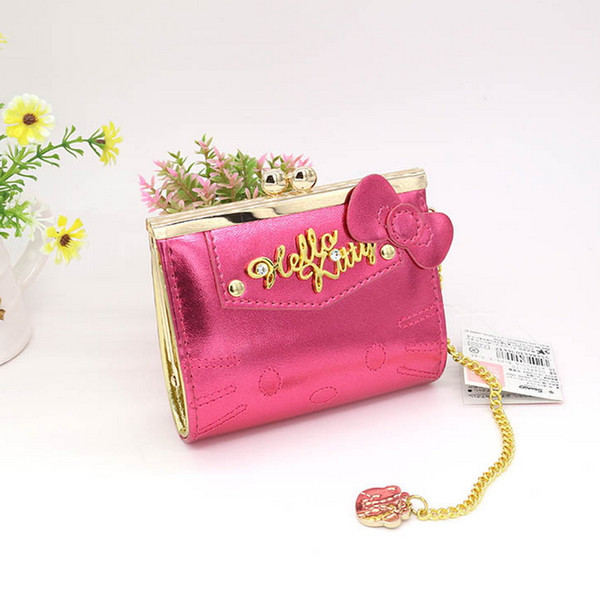 wholesale- hello kitty women coin purse fashion cartoon cute cat wallet red hasp change purse (402489626) photo