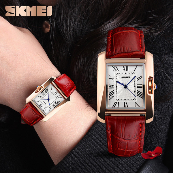 SKMEI 1085 Brand Women Elegant Retro Watches Business Quartz Watches Clock Female Casual Leather Women's Wristwatches (jk_wholesale) Plano Sales of used goods