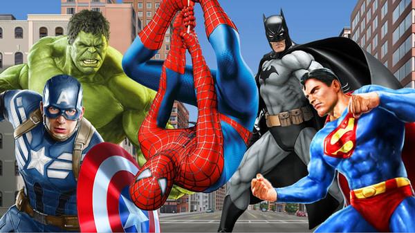 7x5FT супер герой Человек-Паук Супермен Бэтмен пользовательские фотостудия фон бан