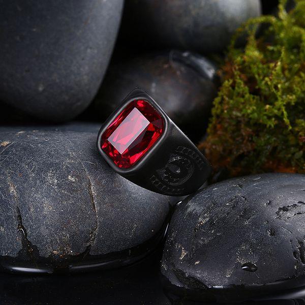горячо! Мужские кольца из нержавеющей стали ювелирные изделия байкер кольца Крас