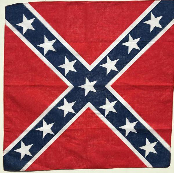 Confederate rebel flag bandanna do rag headwrap civil war flag 55 55cm bandana headband for bandana national polye ter cotton