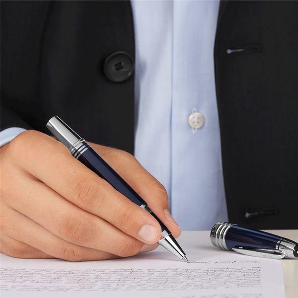 High Quality JFK black / Dark Blue Roller ball pen with Star school office stationery luxury Writing ball pens for birthday Gift M8