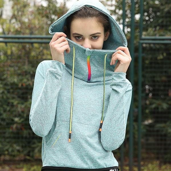 Женская толстовка спортивная одежда Quick Dry Professional Fit с длинным рукавом с капюшоном