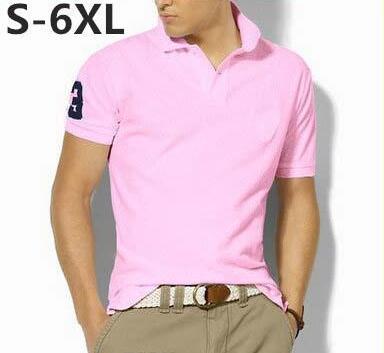 Новая марка 2017 вышивка рубашки поло Мужчины с короткими рукавами вскользь рубашк фото