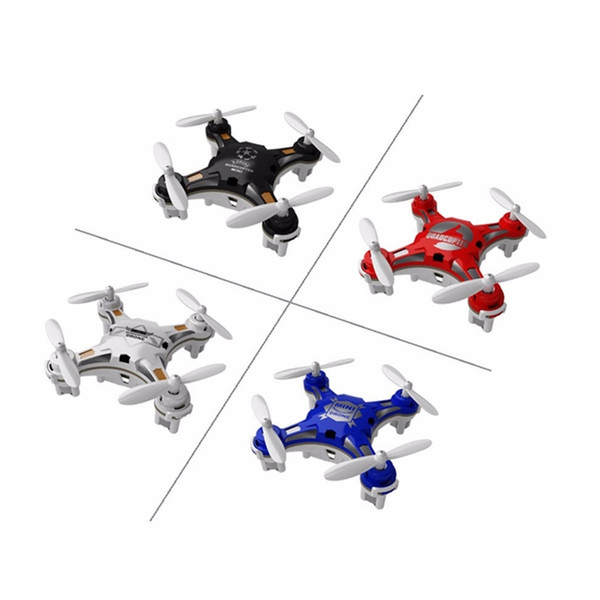 Fq777 124 pocket drone 4ch 6axi gyro quadcopter drone with witchable controller one key to return rtf uav rc helicopter mini drone