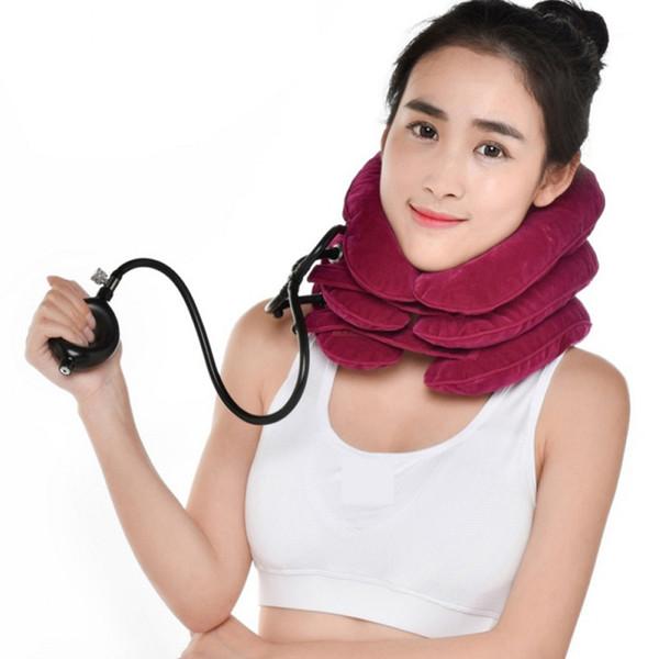 Neck Massager Air Cervical Neck Traction Soft Brace Device Head Back Shoulder Neck Pain Health Care фото