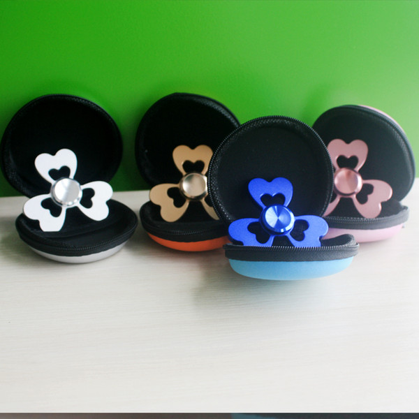 Hot Beautiful Clover Aluminum Alloy Fingertips Gyro Hand Spinner Toy Hand Spinners Finger Spinner Fidget Spinners Gyro EDC Focus Toys