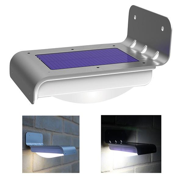 открытый солнечные настенные светильники 16 LED датчик движения солнечной энергии