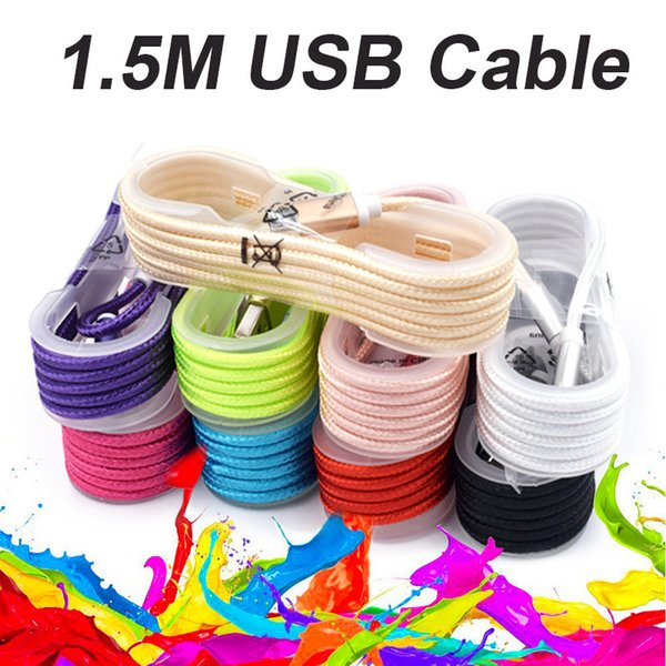 1 5m type c long  trong braided u b charger cable micro v8 3 5mm cable  data line charging cab185