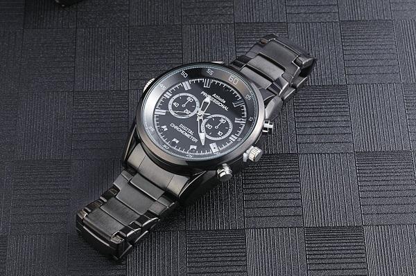 1080p ultra thin watch camera 16gb with night vi ion motion detection video recorder fa hion black wri t watch dvr mini dv