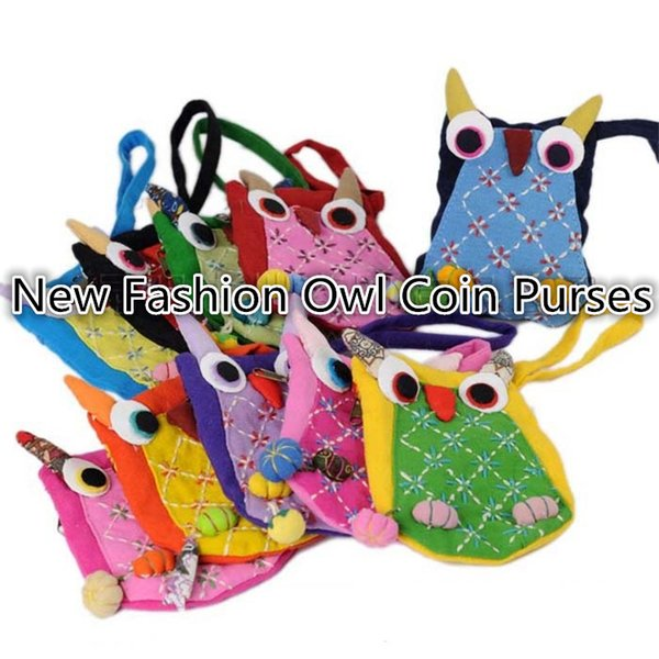 wholesale new handmade coin purses otton owl coin purses women purses personality purses girls purses b0932 (393000362) photo