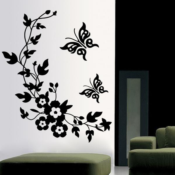 3D бабочка цветы стикер стены для детская комната спальня гостиная холодильник на фото