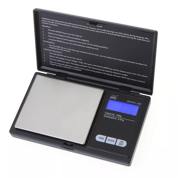 2017 100g * 0.01g Mini LCD Electronic Digital Pocket Scale Jewelry Gold Diamond Weighting Scale Gram Weight Scales