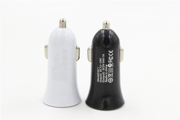 Led light car charger 1a mini univer al luminou  car adapter power for iphone  am ung  mart phone  hipping