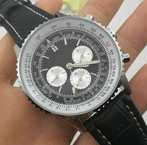 2017 New Leather Top luxury Fashion Mechanical Mens Stainless Steel Automatic Movement Watch Sports mens Self-wind Black Watches