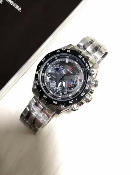 Горячие продать новые мужские спортивные EF-550RBSP-1av хронограф черный циферблат час фото