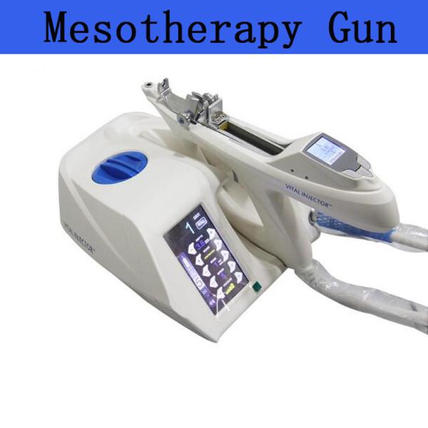 Aprovação ce portátil coreia do  ul branqueamento facial me oterapia vácuo injector gun com 5 pino  9 pino  agulha