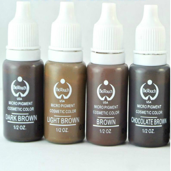 Новый 4 цвета перманентный макияж чернила Bio-Touch микро пигмент косметический 15 мл/бутылка комплекты Бесплатная доставка