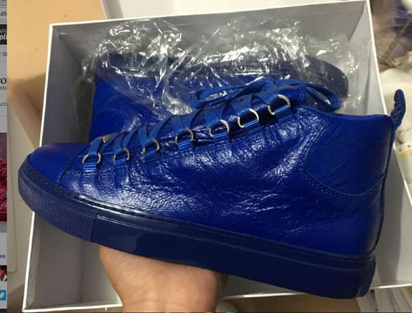 Оптом - markcenter new man арена обувь кожа морщинистая кожа бесплатная доставка большой размер Kanye west Arena бренд кроссовки Rouge Braise Мужская обувь