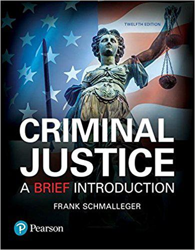 2017 Real Paper book Criminal Justice A Brief Introduction (12th Edition) 978-0134548623 free DHL ship