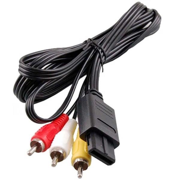 180cm av tv rca video cord cable for game cube for ne gamecube for nintendo for n64 64