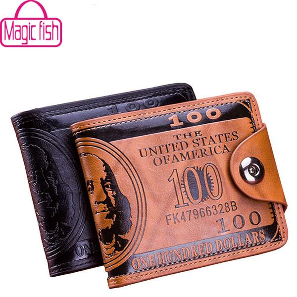 wholesale- magic fish men wallet leather purse designer short style wallets male purse clutch purses 2016 fashion bag lm3854mf (400531977) photo