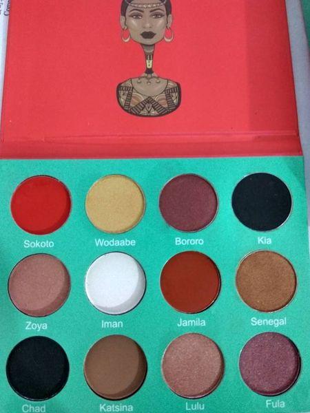 Profe ional makeup 12 color fa hion women yellow eye hadow palette makeup matte eye hadow palette